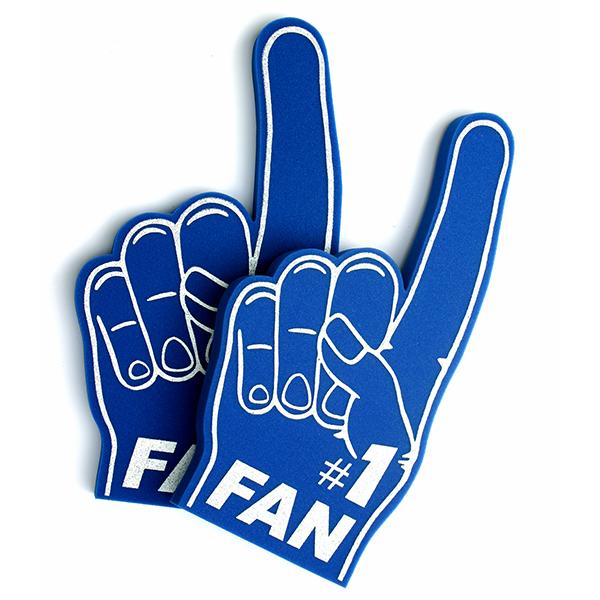Foam hand number 1 fan