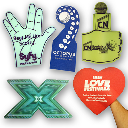 Custom foam hands