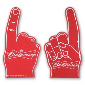 Red foam hands