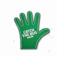 Foam hands high five
