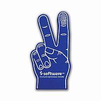 Foam hands peace