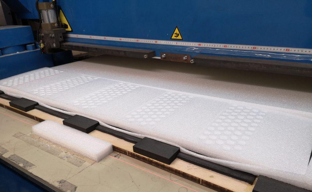 Large format foam pressing UK